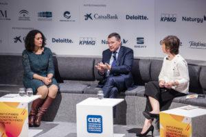 Aziza Akhmouch-OCDE, Ángel Simón-SUEZ y Mariola Urrea-Universidad de La Rioja (2)